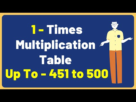 1 Times Multiplication Table up to 451 to 500 | Multiplication Time Table with Audio