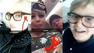 Gwen Stefani with Blake Shelton and her kids | Snapchat Videos | February 28 2017