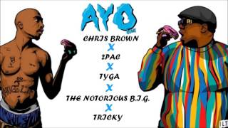 Chris Brown , Tyga - Ayo Ft. 2Pac & The Notorious B.I.G. (Remix)