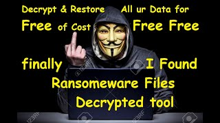 Decrypt Any Ransomware Attack Encrypted File Easily Free of Cost in HINDI