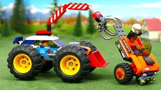 LEGO Experimental Cars - Battle Race. Police car, Fire Truck & Big Whells Toy Vehicles Play for Kids