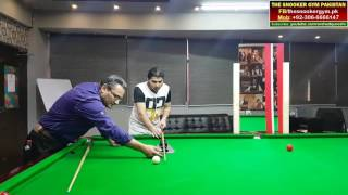 Snooker Coaching! Student working on (Cue Action Trainer) with Arshad Qureshi (Snooker Coach)