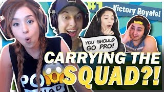 I GOT THE MOST KILLS! FORTNITE SQUADS FT. Cizzorz, Valkyrae & Fed!