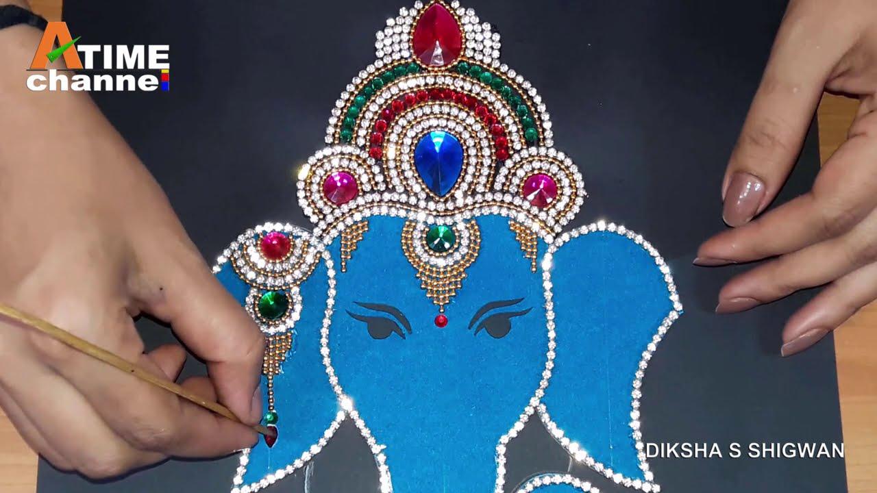 beautiful kundan rangoli design ganesha by art time channel