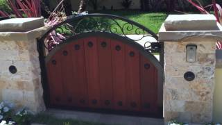 Four Wood & Iron Gates | Beverly Hills | Mulholland Security 1.800.562.5770