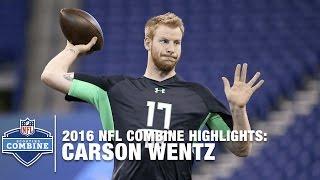 Carson Wentz (North Dakota St., QB)   2016 NFL Combine Highlights - dooclip.me
