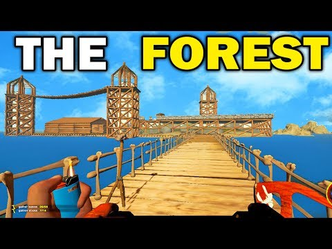 The Forest - Building The BIGGEST BASE!! The Forest Multiplayer! (The Forest Gameplay)
