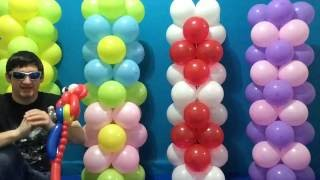 Easy Dollar Store Balloon Columns Tutorial!