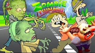 ЗОМБИ ЦУНАМИ #2 СУМАСШЕДШИЙ ЗАБЕГ ЗОМБИ  ЧЕЛЛЕНДЖ в игре zombie tsunami Кто съест больше людей \