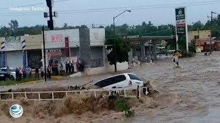 Alerta en Sinaloa, Sonora y BCS, continuarán lluvias intensas