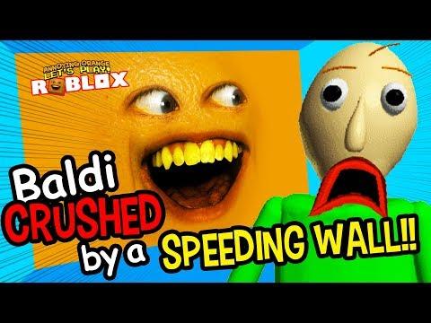 Baldi Crushed by a Speeding Wall!