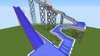 САМЫЙ БОЛЬШОЙ АКВАПАРК АТТРАКЦИОНОВ В МАЙНКРАФТ КАРТЫ ВОДНАЯ ГОРКА /THE BIGGEST Minecraft Water Park