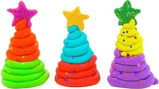 Новогодние ёлочки с сюрпризами. Игрушки из мультиков СВИНКА ПЕППА, МИ МИ МИШКИ, ГЕРОИ В МАСКАХ.