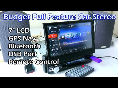 """Budget Full Feature 7"""" LCD Touchscreen Car Stereo"""