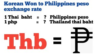 thailand thai bath to philippines peso exchange rate today | thb to php | baht to php