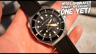 Spinnaker Dumas Watch Review - 70s Dive Watch Inspired - Amazing!