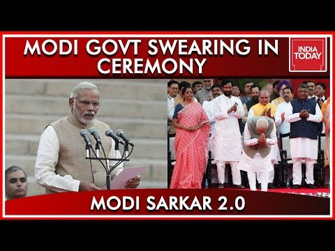 Narendra Modi Takes Oath As Prime Minister Along With 25 Cabinet Ministers & 33 MoS   Full Video