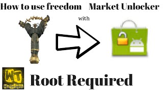 How to use freedom w/ market unlocker (Android).