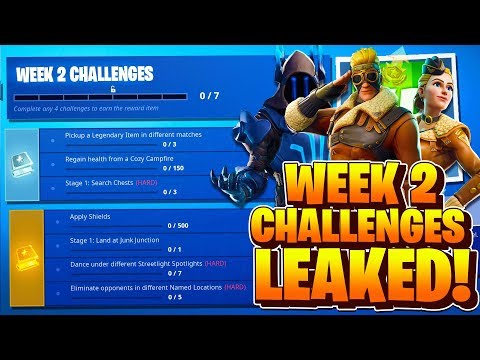 Week 2 Challenges Leaked Fortnite Season 7 Week 2 All Challenges