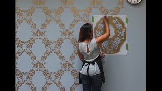 How To Stencil A Feature Wall In Only An Hour