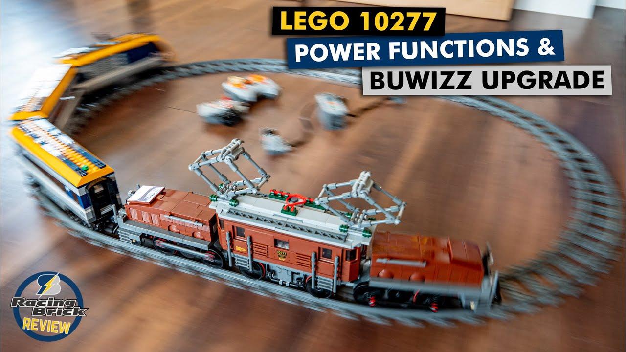 LEGO 10277 Crocodile Locomotive Power Functions & BuWizz upgrade