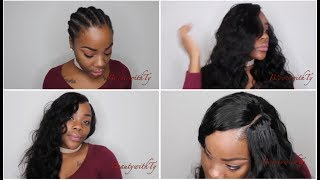 Glueless Quick Weave  No Hair Out  Ft. West Kiss Hair