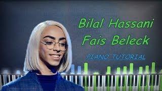 Bilal Hassani - Fais Beleck | Piano Tutorial | Karaoke