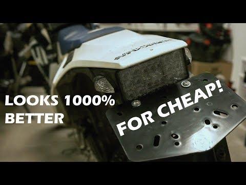 Husqvarna $60 Fender Improvement// Sicass Flush Mount Signals// Moose Racing Universal Plate Mount