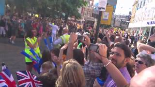 preview picture of video 'Olympic Torch Relay Through Bromley High Street 2012'