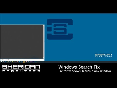 Windows 10 Start Menu - Search not working