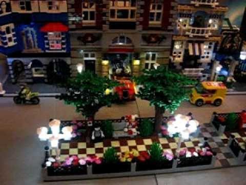 Bau einer beleuchteten Lego Stadt mit Straßenbahn - Film 8