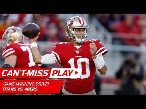 Jimmy Garoppolo Leads Game-Winning Drive vs. Tennessee! | Can't-Miss Play | NFL Wk 15 Highlights