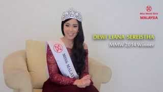 Miss World 2014 Contestant Introduction- Dewi Liana Seriestha from Malaysia