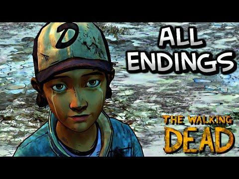The Walking Dead Season Two - ALL ENDINGS ¦ Episode 5: No Going Back [HD]