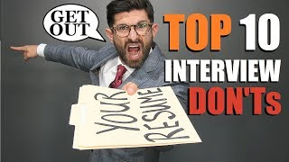 Top 10 Interview Mistakes MOST People Make (& How To Fix Them)