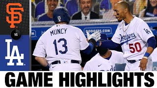 Max Muncy Belts Two Homers In Dodgers 9-1 Win | Giants-Dodgers Game Highlights 7/24/20