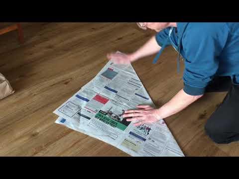 Biotonne Zuhause Mit Zeitungspapier Auskleiden