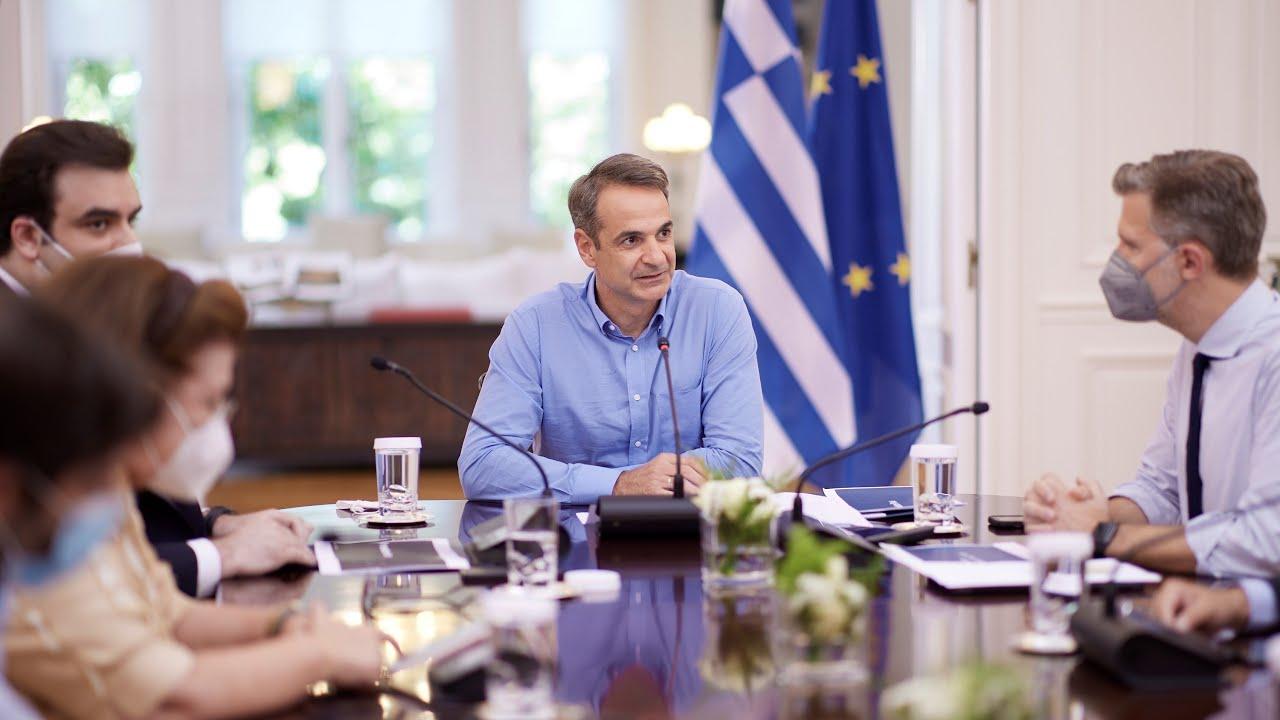 Παρουσίαση μέτρων για την ενθάρρυνση των εμβολιασμών από τον Πρωθυπουργό Κ. Μητσοτάκη και Υπουργούς