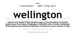 How to pronounce Wellington | English pronunciation