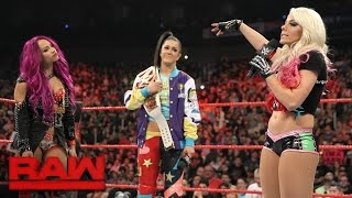The brash Alexa Bliss criticizes Bayley ahead of their Raw Women's Championship Match at WWE Payback, prompting a response from Sasha Banks.#RAWMore ACTION on WWE NETWORK : http://wwenetwork.comSubscribe to WWE on YouTube: http://bit.ly/1i64OdTMust-See WWE videos on YouTube: https://goo.gl/QmhBofVisit WWE.com: http://goo.gl/akf0J4