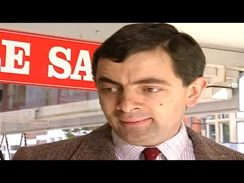 Grappige filmpjes humor kaarten, Mr Bean takes his new credit card to a department store. He can t stand the make up counter, but funny humor
