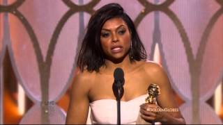Gambar cover Taraji P. Henson wins Best Actress in a Drama Series at the 2016 Golden Globe Awards for Empire.