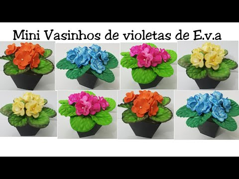 Vasinhos de Violetas