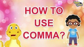 How To Use Comma In English Sentences   English Grammar For Kids   Roving Genius