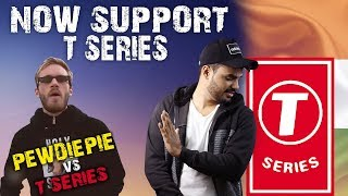 NOW SUPPORT T-SERIES || PEWDIEPIE vs T SERIES