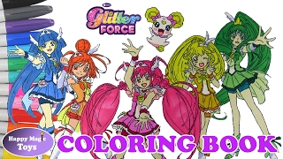 Coloring Book Glitter Force All Members Plus Candy Happy Magic Toys