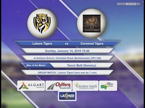 Video Lahore Tigers VS Cornered Tigers - 14-Jan-2018