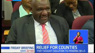 CS Treasury Ukur Yattani, controller of budget have been ordered to disburse funds to 35 counties
