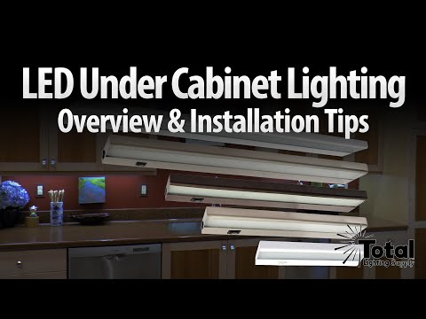 LED under cabinet lighting overview & installation tips