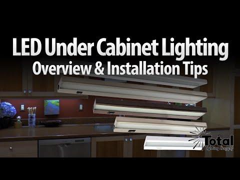 LED under cabinet lighting overview & installation tips